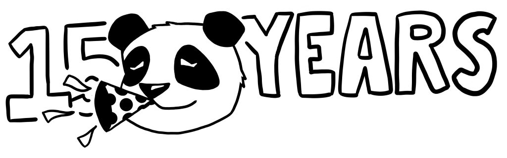 panda with text saying 15 years